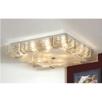 Потолочная люстра Lussole Loft Popoli LSC-3407-16, IP21, 16xE14x40W, хром, прозрачный, металл, стекло