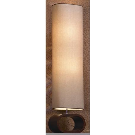 Торшер Lussole Loft Nulvi LSF-2105-02, IP21, 2xE27x60W, коричневый, бежевый, дерево, текстиль