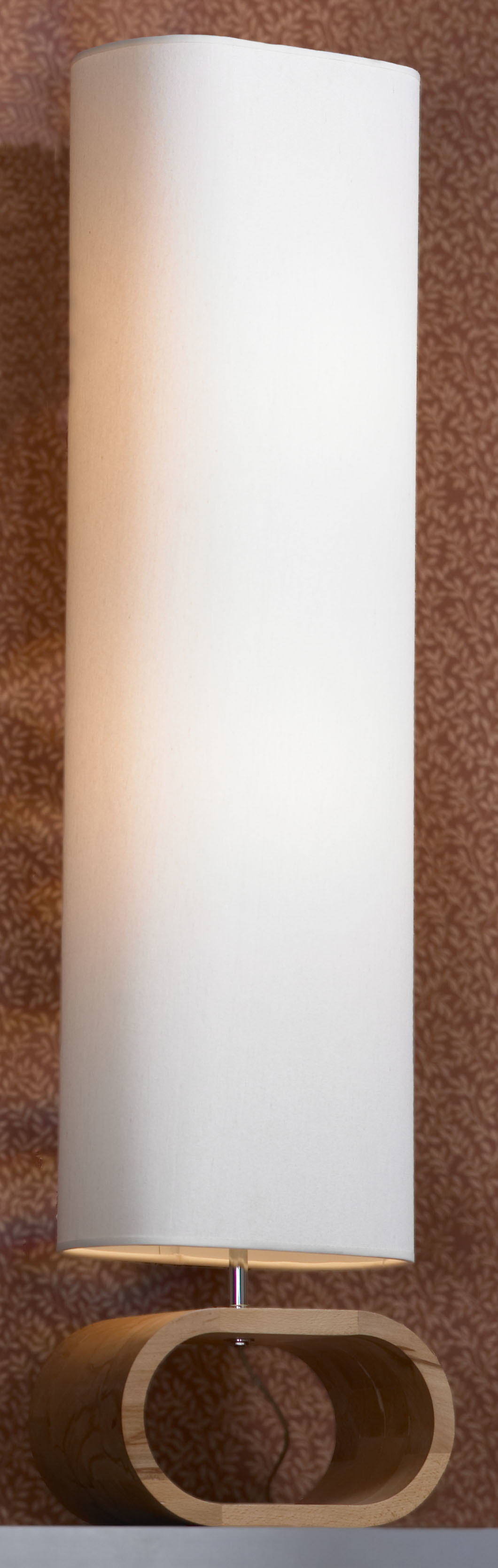 Торшер Lussole Loft Nulvi LSF-2115-02, IP21, 2xE27x60W, коричневый, белый, дерево, текстиль - фото 1