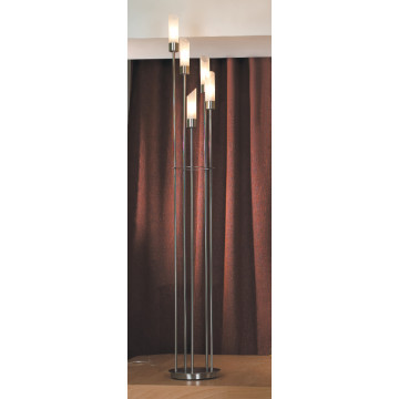 Торшер Lussole Lano LSC-2805-05, IP21, 5xE14x40W, никель, белый, металл, стекло