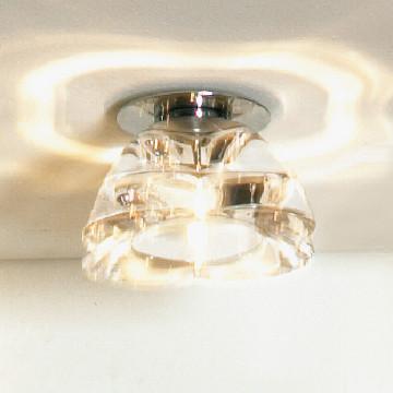 Встраиваемый светильник Lussole Montagano LSC-6100-01, IP21, 1xGY6.35x35W, хром, прозрачный, металл, стекло