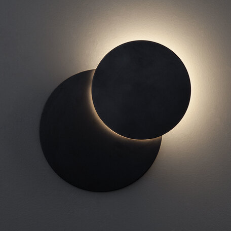 Настенный светодиодный светильник Eurosvet Figure 40135/1 черный 6W, LED 6W 4200K 552lm, черный, металл