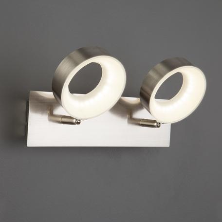 Настенный светодиодный светильник с регулировкой направления света Eurosvet Frisco 20065/2 сатин-никель 12W, LED 12W 4200K 1104lm, никель, металл