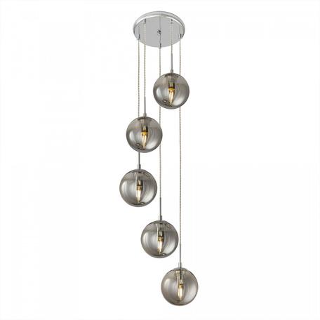 Светильник Citilux Томми CL102050, 5xE14x40W, хром, дымчатый, металл, стекло