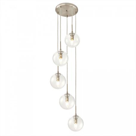 Светильник Citilux Томми CL102051, 5xE14x40W, никель, прозрачный, металл, стекло