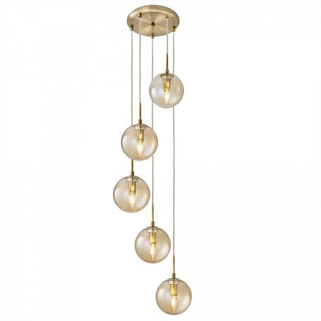 Светильник Citilux Томми CL102053, 5xE14x40W, бронза, янтарь, металл, стекло