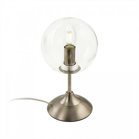Светильник Citilux Томми CL102811, 1xE14x40W, никель, прозрачный, металл, стекло