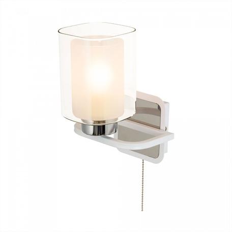 Светильник Citilux Румба CL159410, 1xE27x75W, белый с хромом, белый, металл, стекло