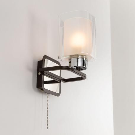 Светильник Citilux Румба CL159411, 1xE27x75W, венге, белый, металл, стекло