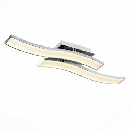 Потолочный светодиодный светильник ST Luce Fluidita SL919.102.02, LED 25W 4000K, хром, металл, металл с пластиком