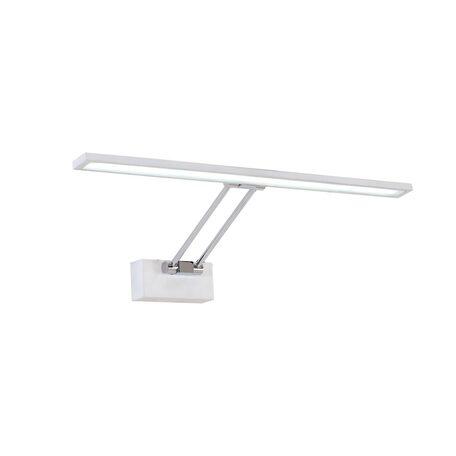 Настенный светодиодный светильник для подсветки картин Citilux Визор CL708500, LED 12W 3600K 900lm, белый, хром, металл
