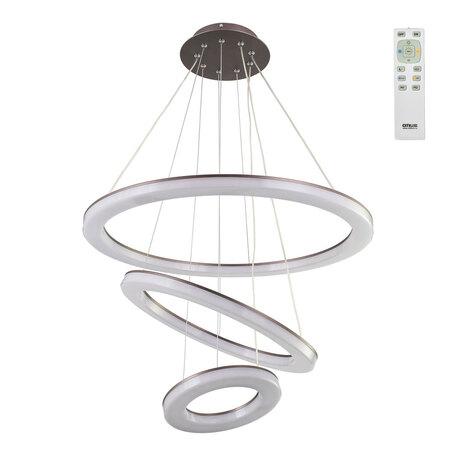 Подвесной светодиодный светильник с пультом ДУ Citilux Электрон CL710105RS, LED 104W 3000-4200K 7300lm, венге, белый, металл, пластик