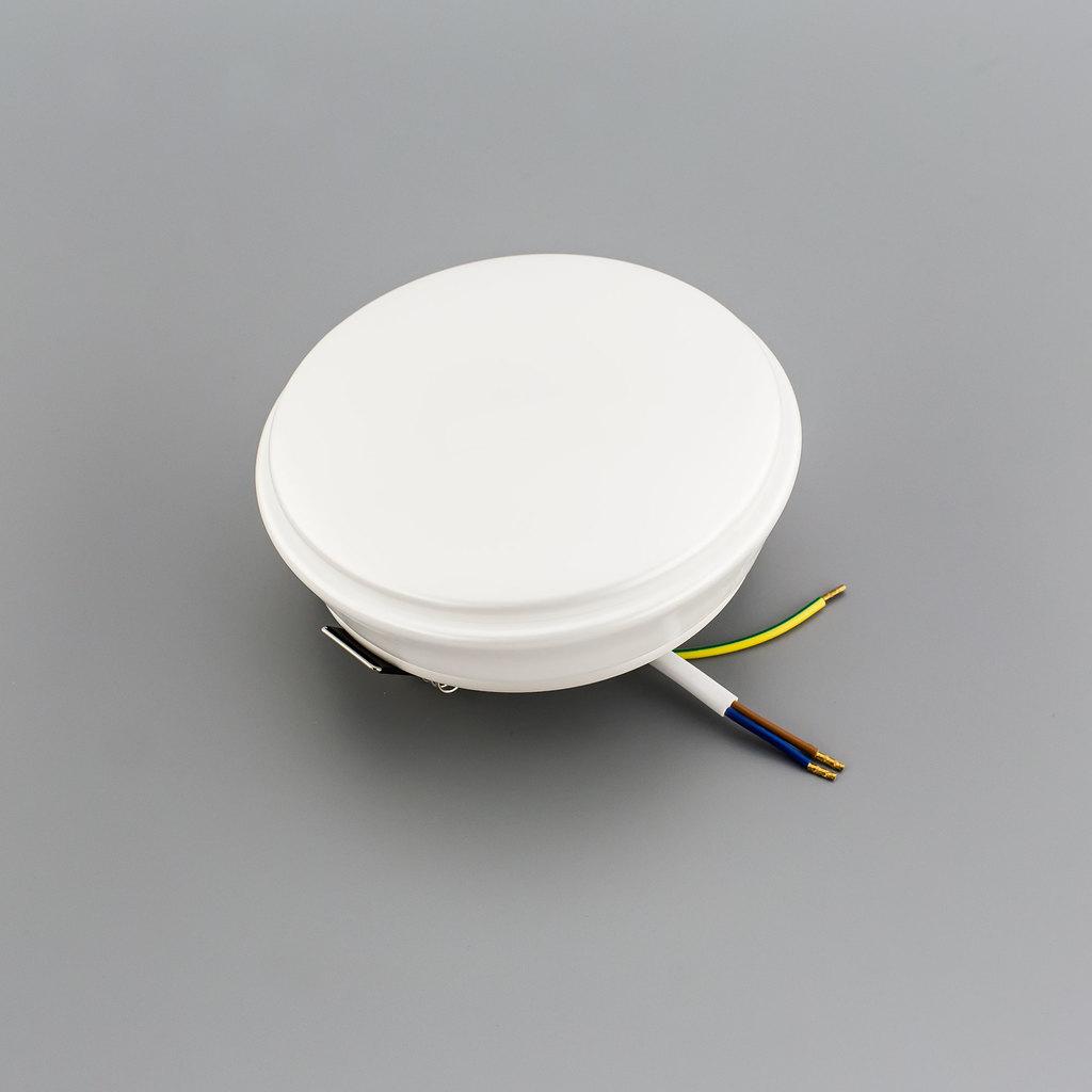 Встраиваемый светодиодный светильник Citilux Дельта CLD6008W, IP54, LED 8W 3000K 520lm, белый, пластик - фото 1