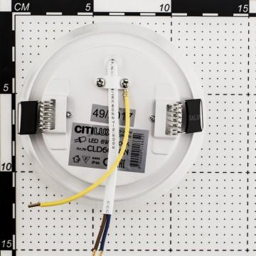 Встраиваемый светодиодный светильник Citilux Дельта CLD6008W, IP54, LED 8W 3000K 520lm, белый, пластик - миниатюра 11
