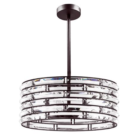Люстра на составной штанге Lightstar Amerigo 746048, 4xE14x40W, коричневый, металл, металл с хрусталем