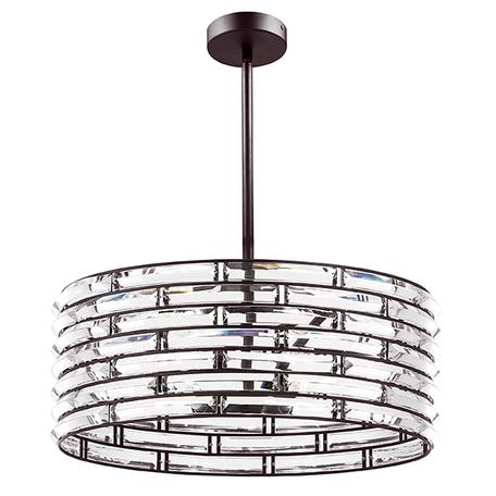 Люстра на составной штанге Lightstar Amerigo 746068, 6xE14x40W, коричневый, металл, металл с хрусталем - миниатюра 1