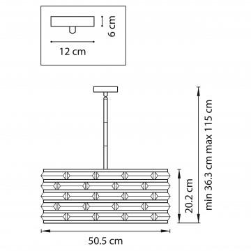 Схема с размерами Lightstar 746068