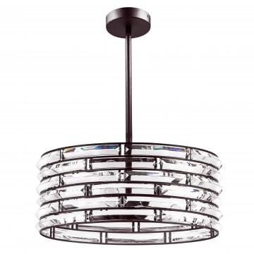 Люстра на составной штанге Lightstar Amerigo 746048, 4xE14x40W, коричневый, прозрачный, металл, хрусталь