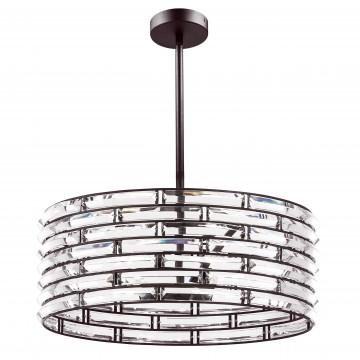 Люстра на составной штанге Lightstar Amerigo 746068, 6xE14x40W, коричневый, прозрачный, металл, хрусталь