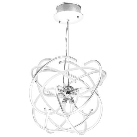 Подвесная светодиодная люстра Lightstar Ciclone 748124, LED 120W 4000K 8800lm, хром, белый, серебро, металл, металл с пластиком