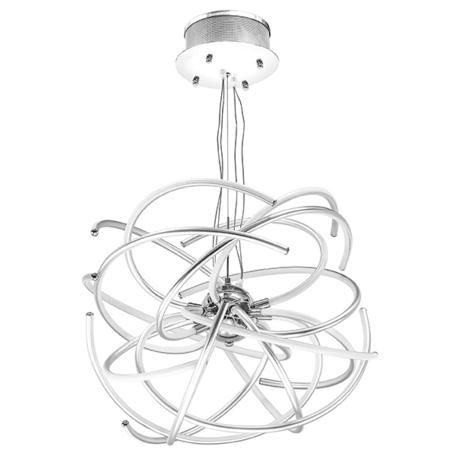 Подвесная светодиодная люстра Lightstar Ciclone 748152, LED 154W 3000K 11300lm, хром, серебро, металл, металл с пластиком