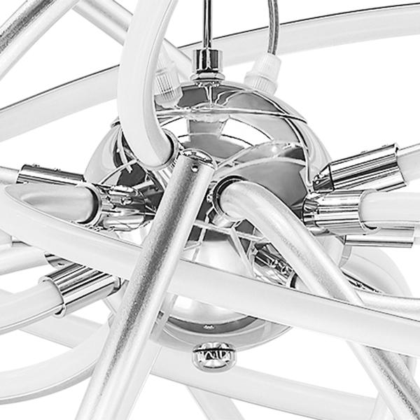 Подвесная светодиодная люстра Lightstar Ciclone 748152, LED 154W 3000K 11300lm, хром, серебро, металл, металл с пластиком - фото 3