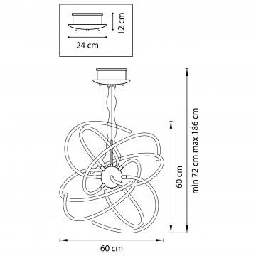 Схема с размерами Lightstar 748152