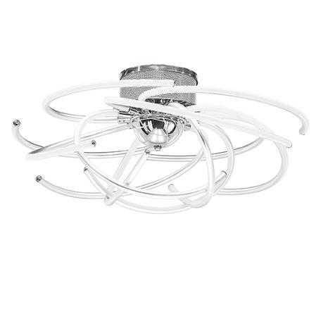 Потолочная светодиодная люстра Lightstar Ciclone 748094 4000K (дневной), хром, белый, серебро, металл, пластик