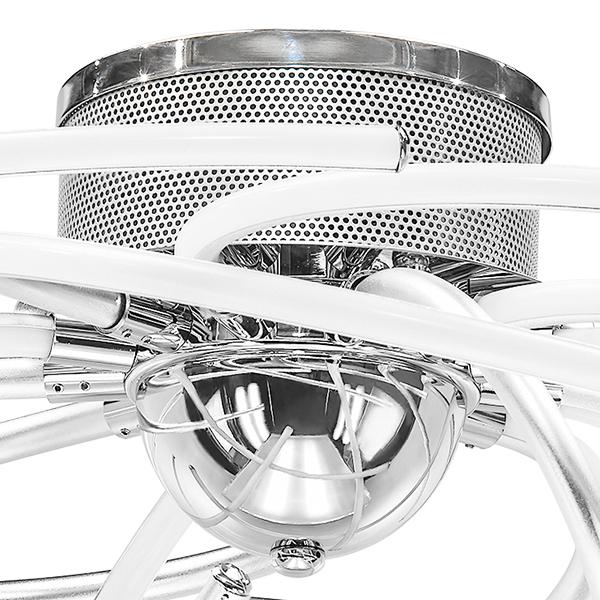 Потолочная светодиодная люстра Lightstar Ciclone 748094, LED 92W 4000K 6700lm, хром, серебро, металл, металл с пластиком - фото 3