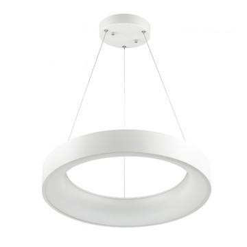 Подвесной светильник Odeon Light Sole 4066/40L, белый, металл, металл со стеклом/пластиком
