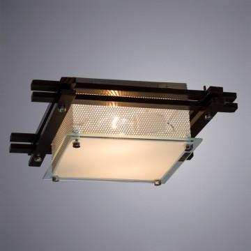 Потолочный светильник Arte Lamp Archimede A6463PL-2BR, 2xE27x60W, венге, матовый, дерево, стекло