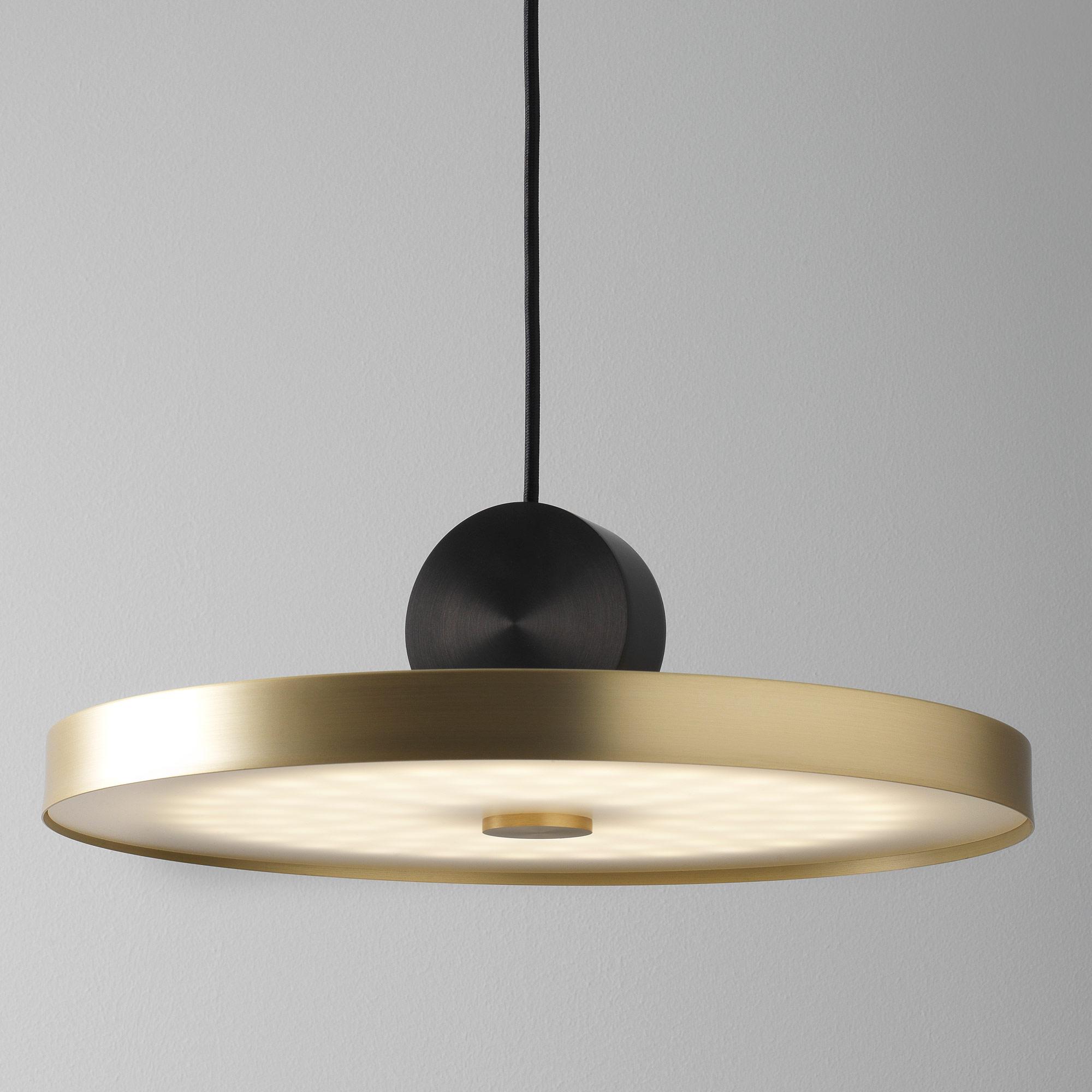 Подвесной светодиодный светильник LUSTRAM Calée 40 CALE PENDANT V4 40, LED, матовое золото, черный, металл - фото 1