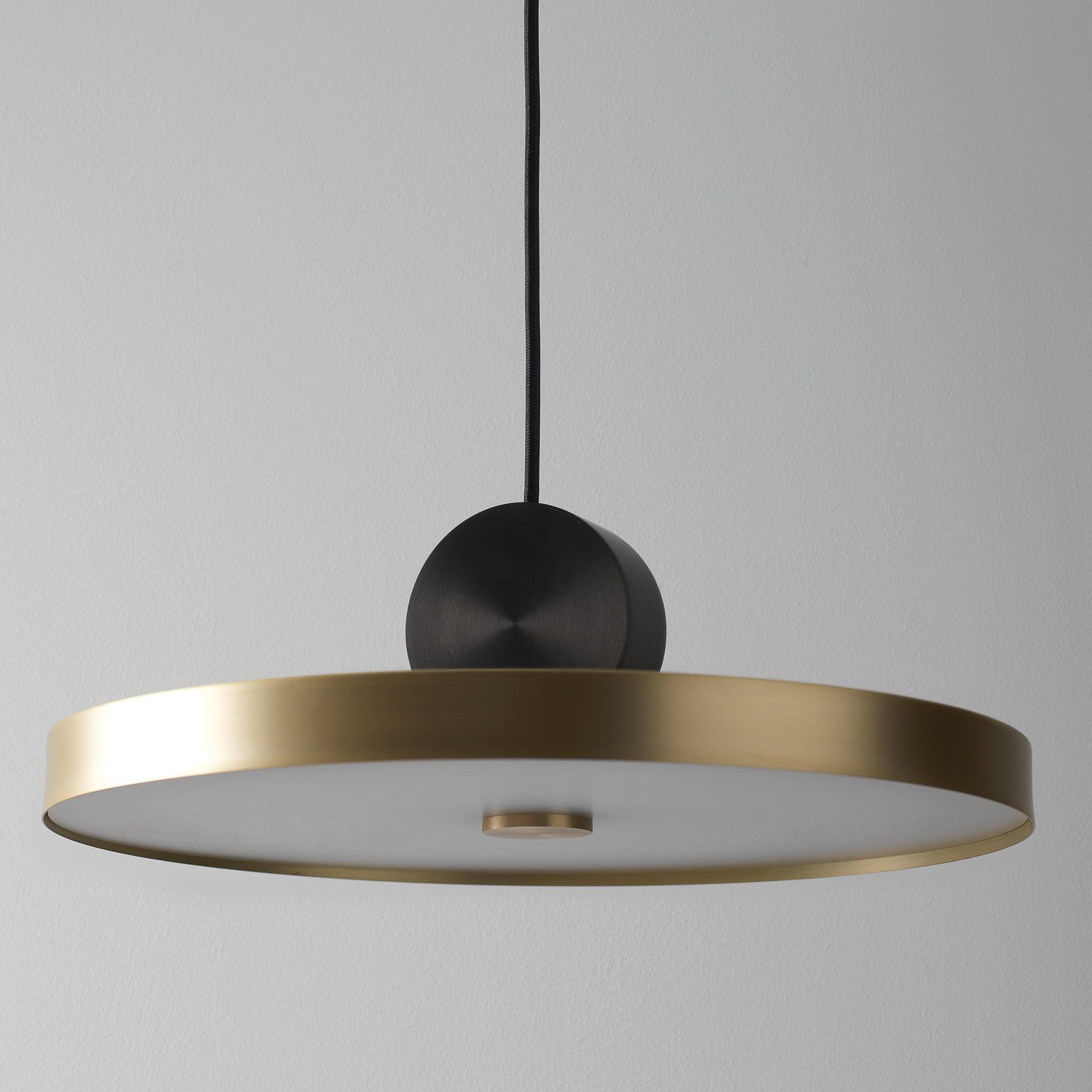 Подвесной светодиодный светильник LUSTRAM Calée 40 CALE PENDANT V4 40, LED, матовое золото, черный, металл - фото 2
