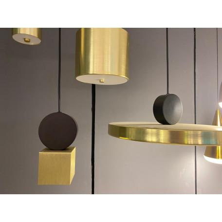 Подвесной светодиодный светильник LUSTRAM Calée 40 CALE PENDANT V4 40, LED, матовое золото, черный, металл - миниатюра 4