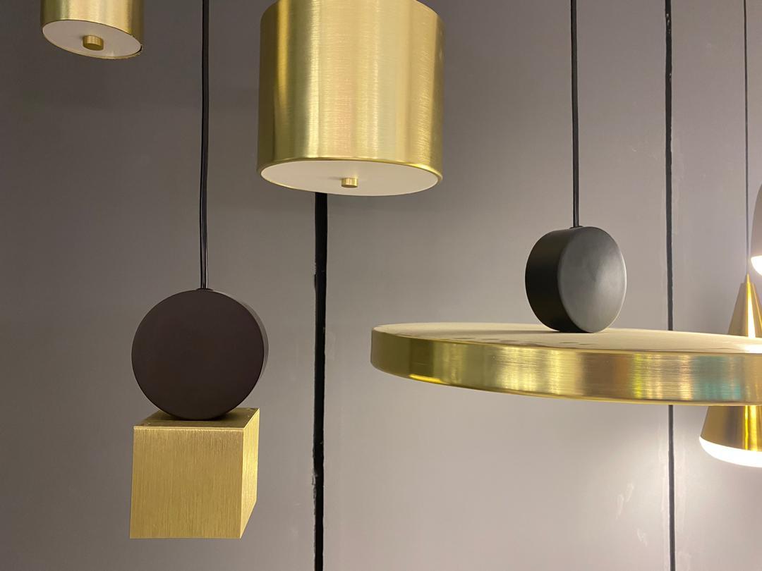 Подвесной светодиодный светильник LUSTRAM Calée 40 CALE PENDANT V4 40, LED, матовое золото, черный, металл - фото 4