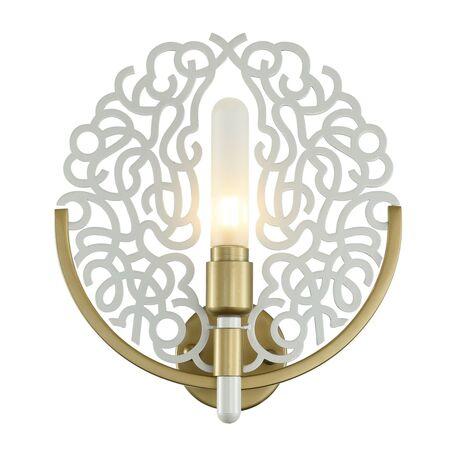 Бра Favourite Fabia 2303-1W, 1xG9x3W, матовое золото, белый, металл, металл со стеклом