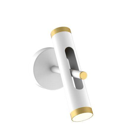 Настенный светодиодный светильник с регулировкой направления света Favourite Duplex 2323-2W, LED 6W 4000K, белый, золото, металл