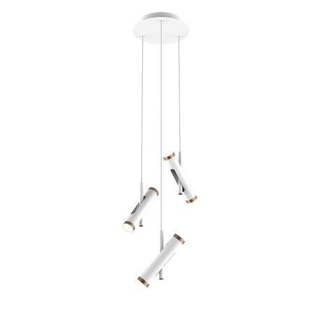 Подвесная светодиодная люстра с регулировкой направления света Favourite Duplex 2325-6P, LED 18W 4000K, белый, коричневый, металл