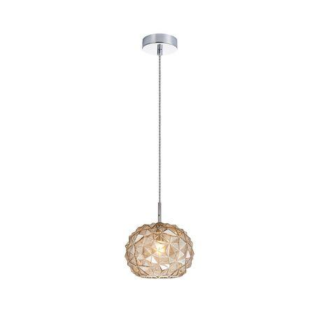 Подвесной светильник Favourite Dispertion 2177-1P, 1xE27x60W, хром, коньячный, металл, стекло