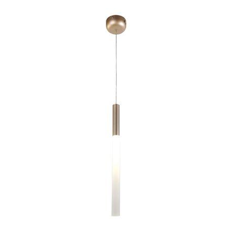 Подвесной светодиодный светильник Favourite Tibia 2217-1P, LED 3W 4000K, матовое золото, белый, металл, металл с пластиком