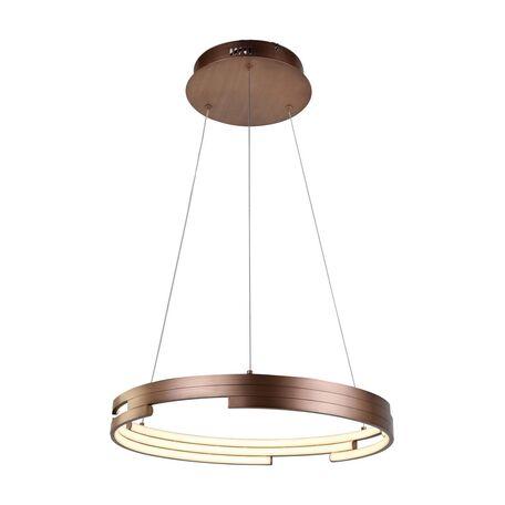 Подвесной светодиодный светильник Favourite Torqueo 2222-6P, LED 47W 4000K, коричневый, металл, металл с пластиком
