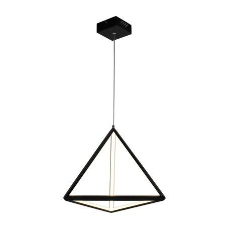 Подвесной светодиодный светильник Favourite Pyramidis 2257-1P, LED 30W 3000K, черный, металл, металл с пластиком