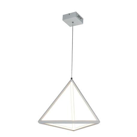 Подвесной светодиодный светильник Favourite Pyramidis 2258-1P, LED 30W 3000K, белый, металл, металл с пластиком