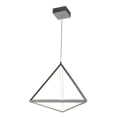 Подвесной светодиодный светильник Favourite Pyramidis 2259-1P, LED 30W 3000K, серебро, металл, металл с пластиком