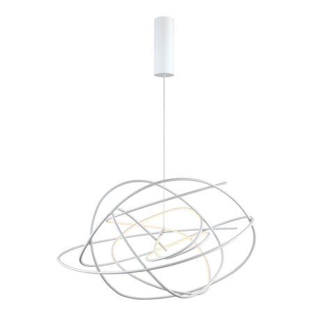 Подвесной светодиодный светильник Favourite Saga 2311-2P, LED 36W 3000K 2880lm, белый, металл, металл с пластиком