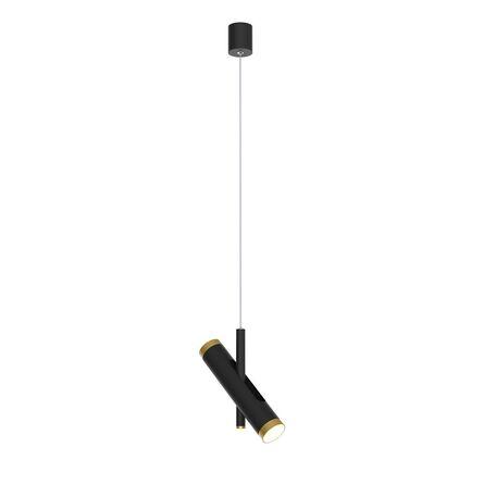 Подвесной светодиодный светильник с регулировкой направления света Favourite Duplex 2324-2P, LED 6W 4000K, черный, металл