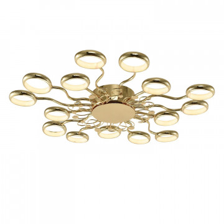 Потолочная светодиодная люстра Favourite Dominium 2321-15C, LED 105W 4000K, золото, металл, металл с пластиком