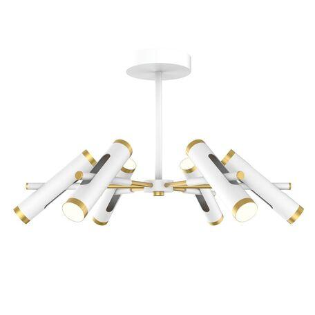 Потолочная светодиодная люстра с регулировкой направления света Favourite Duplex 2323-12U, LED 36W 4000K, белый, матовое золото, металл
