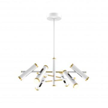 Светодиодная люстра с регулировкой направления света на составной штанге Favourite Duplex 2323-12P, LED 36W 4000K (дневной)