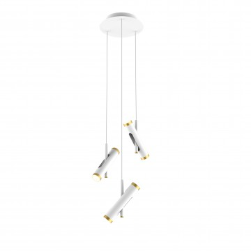 Светодиодная люстра-каскад с регулировкой направления света Favourite Duplex 2323-6P, LED 18W 4000K (дневной)